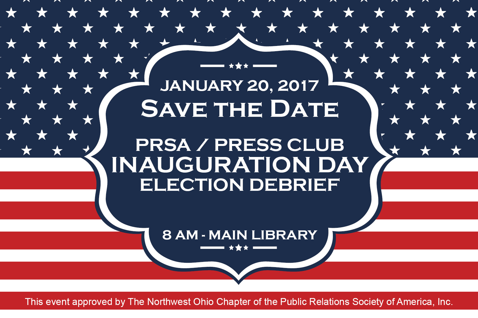 Save the Date for January 20, 2017 PRSA Meeting